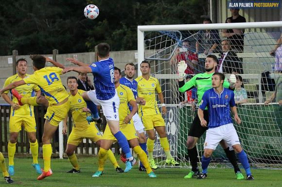 Offensive:  Stones attack the Bulla stand (Pic: Alan Palmer)